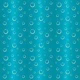Пузыри в предпосылке воды безшовной Стоковое фото RF