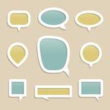 Пузыри для собрания речи. Стоковые Изображения RF