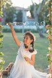 пузыри делая мыло Стоковое фото RF