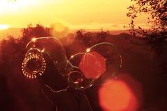 пузыри делая человека стоковые фотографии rf