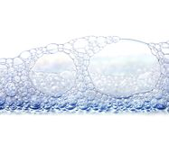 пузыри изолировали белизну Стоковое Изображение