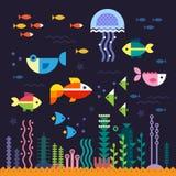 пузыри копируют вектор текста космоса seaweeds моря жизни иллюстрации рыб meno lombok острова Индонесии gili около мира черепахи  Стоковое Изображение