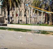 Пузыри мыла летания Стоковые Изображения RF