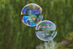 Пузыри мыла как предпосылка Стоковые Фото