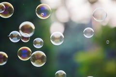 Пузыри мыла Стоковое Фото
