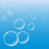 Пузыри на голубом небе бесплатная иллюстрация