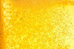пузыри пива закрывают стеклянную съемку вверх Стоковое Изображение RF