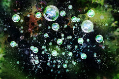 пузыри предпосылки Стоковое Фото