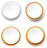 Пузыри речи бумажного бело-апельсина круглые иллюстрация штока