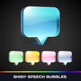Пузыри речи вектора сияющие Стоковые Изображения RF