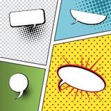 Пузыри речи в стиле Шипучк-искусства Стоковые Изображения