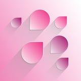 Пузыри речи дизайна на предпосылке розы пинка Стоковая Фотография