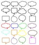 Пузыри речи мысли Стоковая Фотография RF