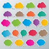 Пузыри речи облака Стоковые Изображения RF