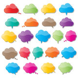 Пузыри речи облака Стоковые Фото