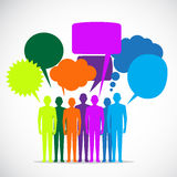 Пузыри речи людей красочные Стоковое Изображение RF