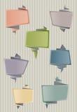 Пузыри речи Origami иллюстрация штока