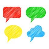 Пузыри речи Scribble. Иллюстрация вектора бесплатная иллюстрация