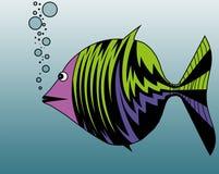 Пузыри рыб дуя Стоковое фото RF