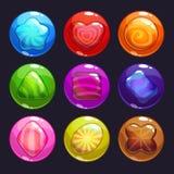 Пузыри смешного шаржа красочные с конфетами внутрь бесплатная иллюстрация