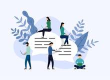 Пузыри сообщения беседуют, беседовать людей онлайн, концепция дела бесплатная иллюстрация