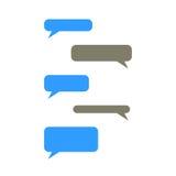 Пузыри сообщения с местом для текста иллюстрация вектора
