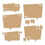 Пузыри цитаты отрезанные из картона Стоковые Изображения RF