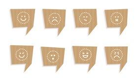 Пузыри цитаты отрезанные из картона Стоковая Фотография