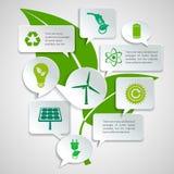 Пузыри экологичности и энергии бумажные infographic Стоковые Фото