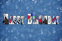 пузыри дня рождения Стоковое Изображение