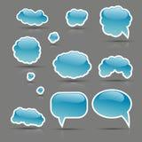 пузыри glare комплект Иллюстрация вектора