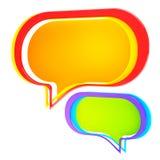 пузырь беседуя цветастый изолированный текст Стоковые Фотографии RF