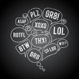 Пузырь болтовни акронима Grunge Стоковая Фотография RF