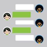 Пузырь болтовни переговора с персонажем из мультфильма Стоковые Изображения