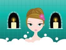 пузырь ванны Стоковое Фото