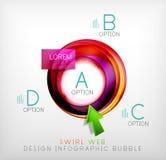 Пузырь веб-дизайна свирли infographic - плоская концепция Стоковое Изображение RF