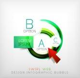 Пузырь веб-дизайна свирли infographic - плоская концепция Стоковая Фотография