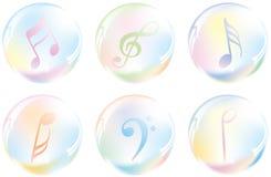 пузырь внутри музыкального символа Стоковое Изображение RF