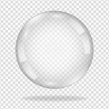 Пузырь мыла воды с мягкой тенью Стоковое Изображение