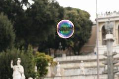 Пузырь мыла в центре Рима Стоковые Изображения RF