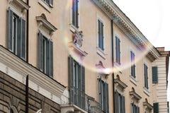 Пузырь мыла в центре Рима Стоковое Фото