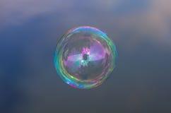 Пузырь мыла на небе Стоковые Изображения