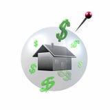 Пузырь дома в 3D стоковая фотография rf