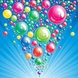 пузырь предпосылки иллюстрация вектора