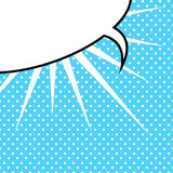 Пузырь речи в типе Хлопать-Искусства Стоковое Фото