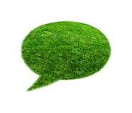 Пузырь речи зеленой травы Стоковое Изображение RF