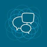 Пузырь речи, линия дизайн стиля Стоковое Изображение