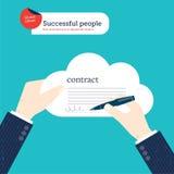 Пузырь речи мира сделанный от диалога предпринимателей Стоковое Фото
