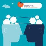 Пузырь речи мира сделанный от диалога предпринимателей Стоковые Изображения RF