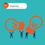 Пузырь речи мира сделанный от диалога предпринимателей Стоковая Фотография RF